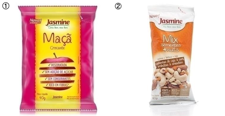 Chips de Maçã da Jasmine e Mix de Sementes + Nuts da Jasmine