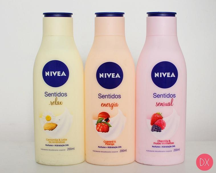 Resenha: Hidratantes Nivea Sentidos - Relax, Energia e Sensual
