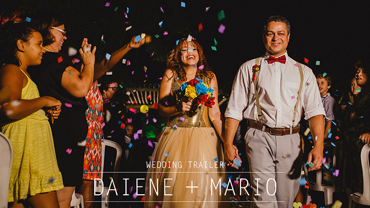 Casamento DIY - Wedding Trailer - Daiene e Mario