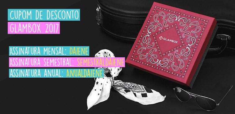 Cupom de Desconto Glambox Setembro 2017 | Até R$ 60 de desconto!