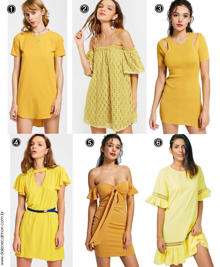 Vestido Amarelo Mostarda - Yellow Mustard Dress - Zaful