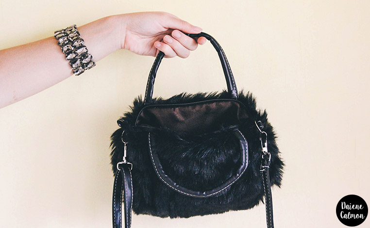 Recebidos: Amiclubwear - Bolsa de Pelo Fake