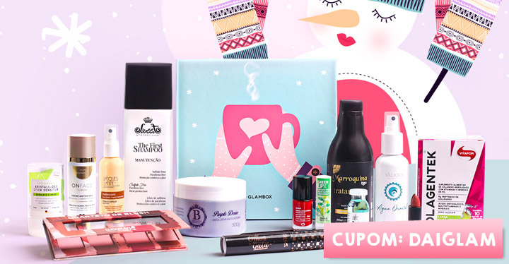 Cupom de desconto Glambox Julho 2020 | Glambox Inverno | Até R$60 de desconto + brindes!