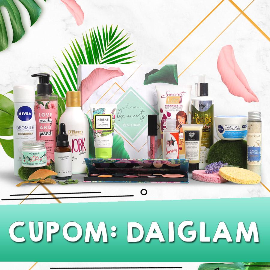 Cupom de desconto Glambox Outubro 2020 - Glambox Clean Beauty
