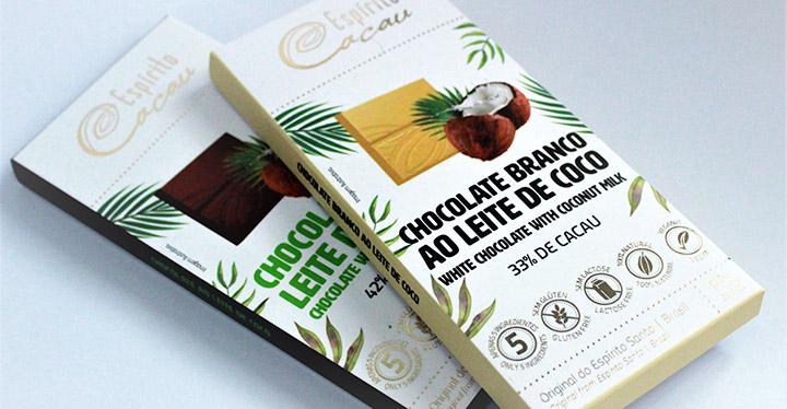 Espírito Cacau lança nova linha de chocolates à base de cacau e leite coco