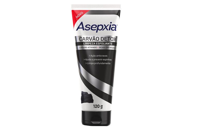 Asepxia amplia linha Carvão Detox - Limpeza Esfoliante