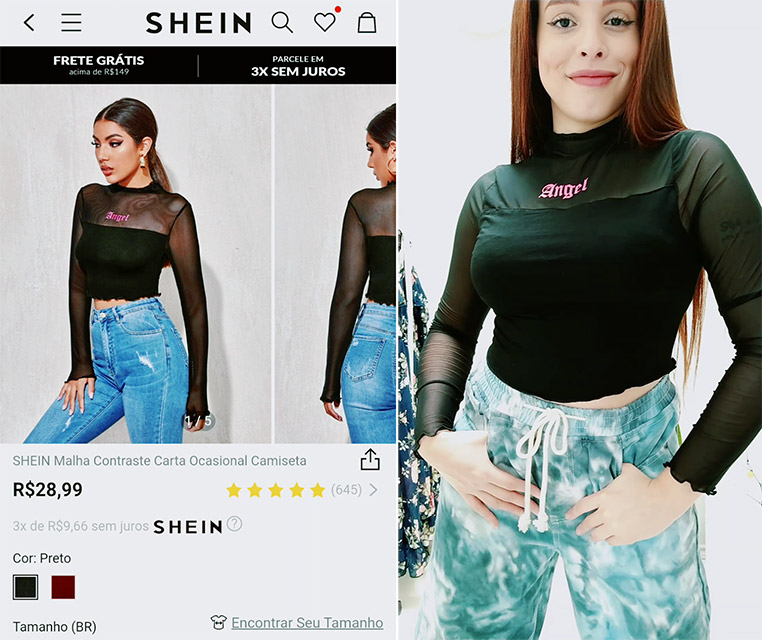 Compras na Shein: Roupas, acessórios e bijuterias