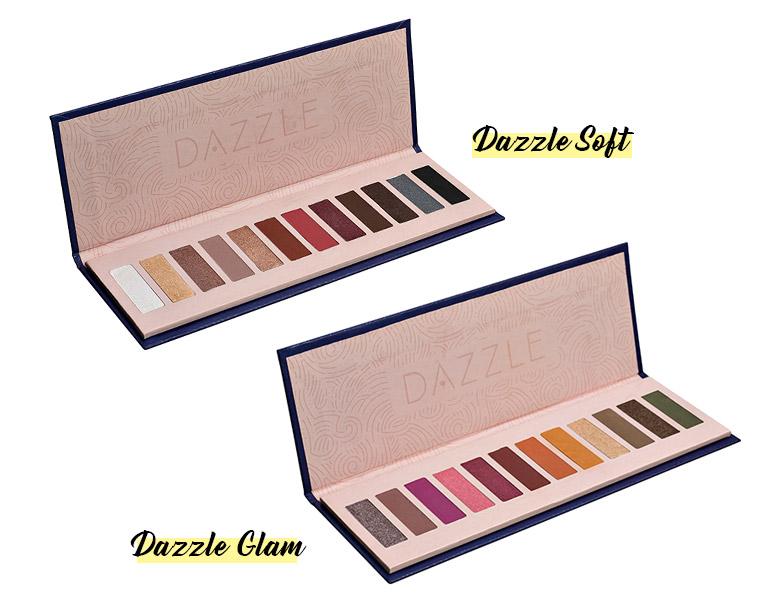 Paleta de Sombras Dazzle Soft e Dazzle Glam Hinode