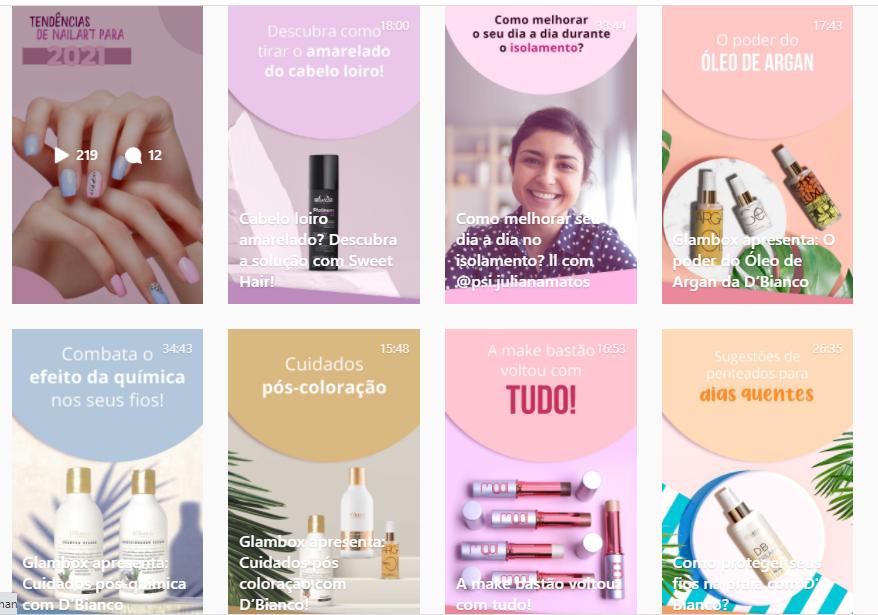 Glambox - Clube de assinatura de produtos de beleza (Lives no Instagram)