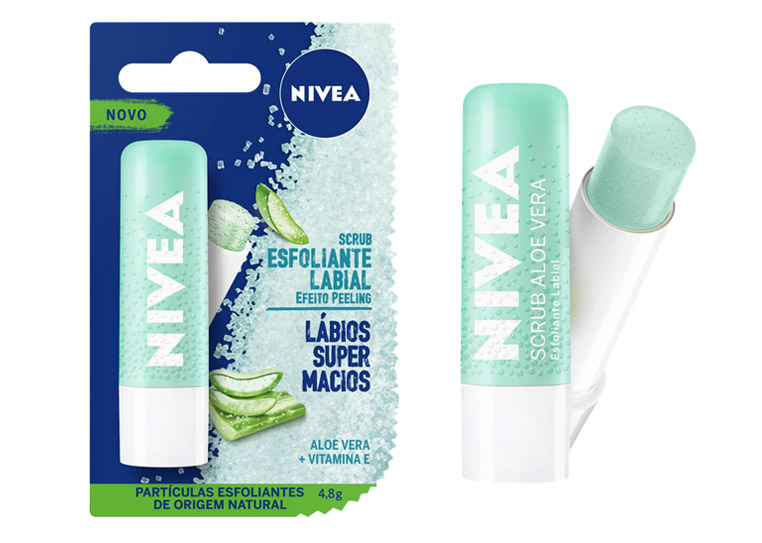 Nivea Scrub - Esfoliante Labial Hidratante Aloe Vera