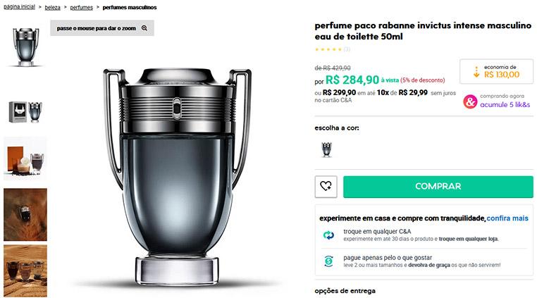 Perfume Invictus Intense Masculino Eau de Toilette - Paco Rabanne